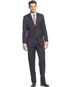 Lauren by Ralph Lauren  - Black Stripe Suit Slim Fit
