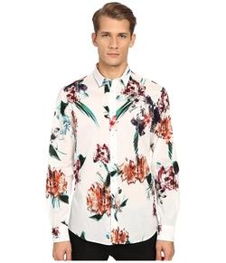 Just Cavalli  - Tropical Ikat Print Long Sleeve Woven