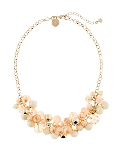 Whbm - Beaded Cluster Short Necklace
