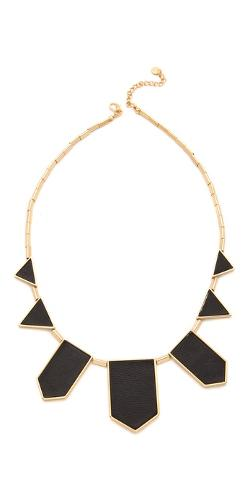House of Harlow 1960  - Station Leather Necklace