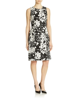 Anne Klein  - Floral Panel Sheath Dress