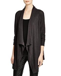 Velvet by Graham & Spencer - Ribbed Rayon Open Cardigan