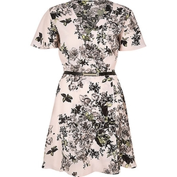 River Island - Floral Print Belted Wrap Dress