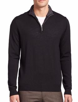 Saks Fifth Avenue Collection - Merino Wool Half-Zip Sweater