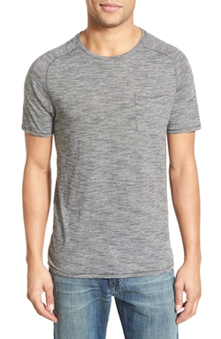 John Varvatos Star USA - Micro Stripe Knit Crewneck T-Shirt