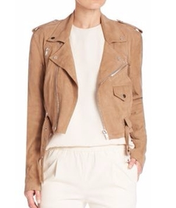 Polo Ralph Lauren - Cropped Suede Moto Jacket