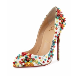 Christian Louboutin - Follies Spiked Floral Red Sole Pumps