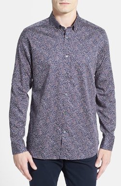 Ted Baker London - Trim Fit Leopard Print Sport Shirt
