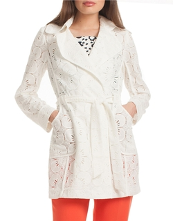 Trina Turk - Monet Lace Trenchcoat