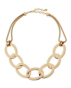 R.J. Graziano - Chunky Golden Oval Chain-Link Necklace