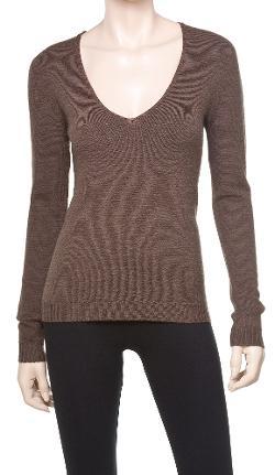 Leon Max - Stretch Crepe V-neck Sweater