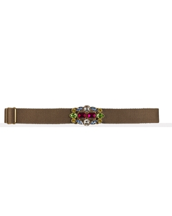 Ralph Lauren - Jeweled Webbed-Cotton Belt