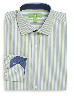 Bristol & Bull  - Regular-Fit Striped Dress Shirt