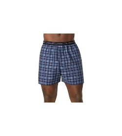 Hanes - Tartan Boxer Shorts with Exposed Waistband
