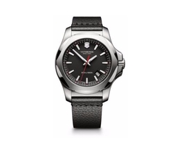 Victorinox Swiss Army  - INOX Stainless Steel & Leather Strap Watch