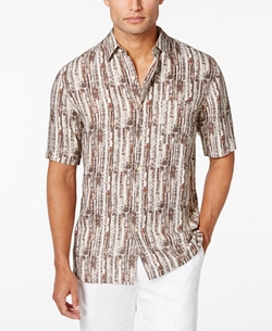 Tasso Elba - Linen-Silk Short-Sleeve Shirt