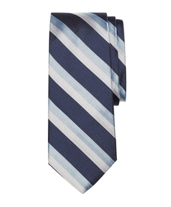 Brooks  Brothers - Double Herringbone Stripe Silk Tie