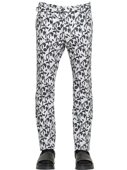 Jil Sander - Geometric Print Cotton Canvas Pants