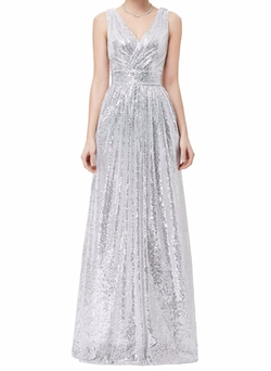 Grace Prom Long Dresses - Sequined Banquet Evening Dress