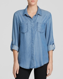 Aqua - Riley Chambray Shirt