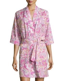 Bedhead - Paisley-Print Poplin Kimono Robe