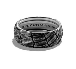 David Yurman - Alligator-Embossed Band Ring