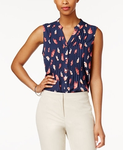 Charter Club  - Butterfly-Print Blouse