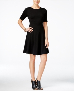 Karen Kane - Michelle Short-Sleeve Fit & Flare Dress