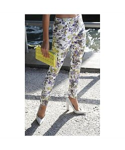 Concrete Runway  - Full Bloom Skinny Floral Pants
