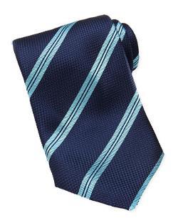 Brioni - Rope-Stripe Grenadine Tie