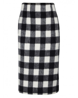 MSGM - Buffalo Check Pencil Skirt