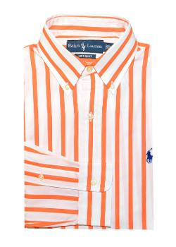 Ralph Lauren  - Men Custom Fit Striped Pony Logo Shirt