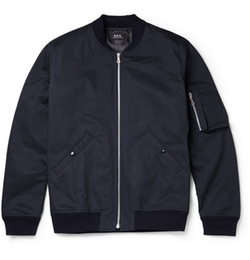 A.P.C. - Herringbone Cotton Bomber Jacket