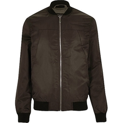 River Island - Dark Brown Casual Bomber Jacket