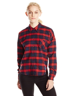 Blu Pepper - Plaid Woven Pocket Shirt