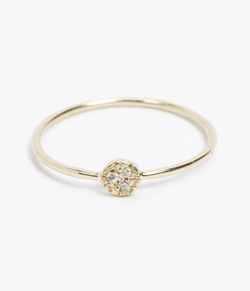 Mociun  - Single Side Diamond Circle Ring