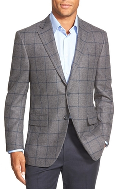 Peter Millar  - Classic Fit Windowpane Wool Sport Coat
