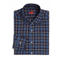 Isaia - Plaid Cotton Dress Shirt