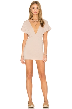 Lisakai - Deep V Rib Dress