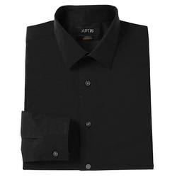 Apt. 9 - Solid Stretch Spread-Collar Dress Shirt
