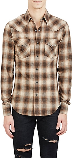 Saint Laurent - Plaid Western Shirt