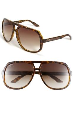 Gucci  - Logo Temple Aviator Sunglasses