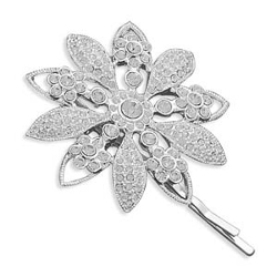 West Coast Jewelry - Crystal Flower Bobby Hair Pin