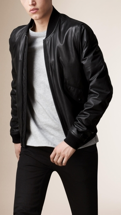 Burberry - Nappa Leather Bomber Jacket