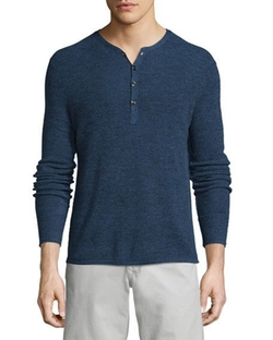 Rag & Bone  - Garrett Long-Sleeve Henley Shirt