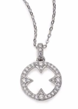 Adriana Orsini  - Heart & Soul Clover Disc Necklace