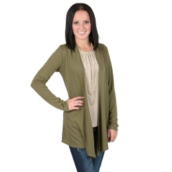 Brinley Co - Long Sleeve Open Front Cardigan