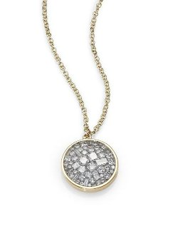 Plevé  - Diamond & 18K Yellow Gold Pendant Necklace