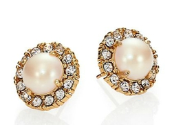 Kate Spade New York - Secret Garden Faux Pearl Stud Earrings