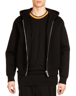 Givenchy - Neoprene Big-Zipper Hoodie